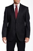 HUGO BOSS Diagonal Two Button Notch Lapel Wool Suit Jacket