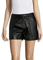 Frame Culotte Leather Shorts