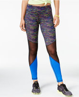 Material Girl Active Juniors' Mixed-Media Leggings, Only at Macy's