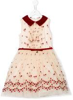 MonnaLisa embroidered roses dress