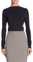 Victoria Beckham Backless Wool Bodysuit