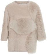 Carolina Herrera Boxy Short Sleeved Fur Top