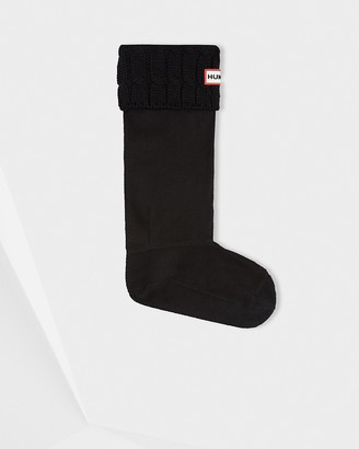 Hunter 6 Stitch Cable Knitted Cuff Tall Boot Socks