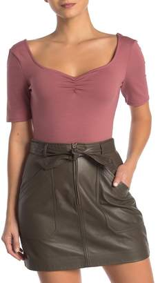 ASTR the Label Sweetheart Short Sleeve Bodysuit