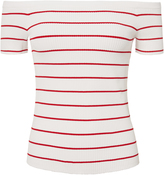Exclusive for Intermix Ariana Off Shoulder Striped Knit Top