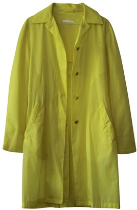 Helmut Lang Yellow Trench Coat for Women Vintage