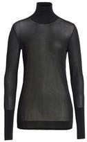 Simone Rocha Women's Sheer Mock Neck Sweater