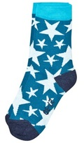 Melton Sock - Random Stars Blue Atoll