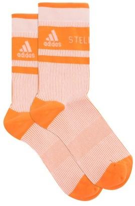 adidas by Stella McCartney Logo-jacquard Recycled-fibre-blend Socks - Orange