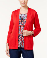 Alfred Dunner Uptown Girl Layered-Look Cardigan
