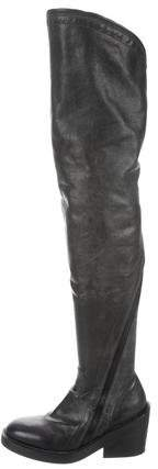 Ann Demeulemeester Zip Over-The-Knee Boots
