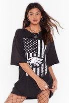 Nasty Gal Womens Vintage Stand Up Oversized Tee - black - S, Black