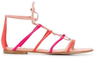 Gianvito Rossi Lace-Up Flat Sandals
