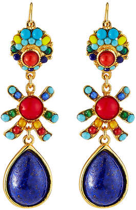 Jose & Maria Barrera Glass Bead & Teardrop Earrings
