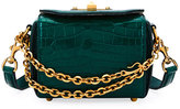 Alexander McQueen Box Bag 16 Alligator Shoulder Bag, Green
