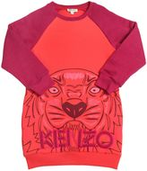 Kenzo Tiger Printed Cotton Sweatshirt Dress
