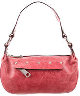 Marc Jacobs Distressed Leather Shoulder Bag