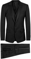 Dolce & Gabbana Martini Black Three-piece Tuxedo Suit