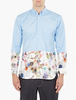 Comme Des Garcons Shirt Cotton Poplin Shirt With Print Lower Detail