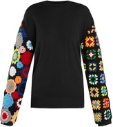 J.W.Anderson Crochet-sleeve wool sweater