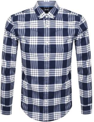 HUGO BOSS Boss Business Rikard Check Shirt Navy