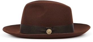 Christys London Christys' London Witan Chocolate Wool Felt Fedora