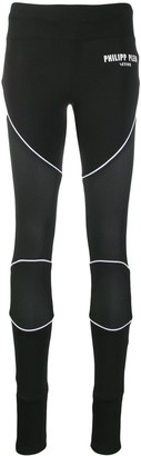 Philipp Plein Micro Mesh Panel Leggings