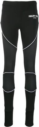 Philipp Plein micro mesh panel leggings