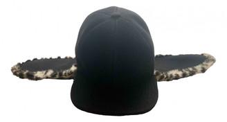 Stella McCartney Black Faux fur Hats