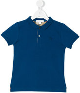 Burberry embroidered logo polo shirt - kids - Cotton - 5 yrs