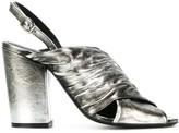 Strategia Metallic Open-Toe Sandals