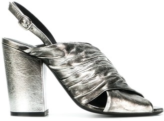 Strategia Metallic Open-Toe Sandals