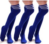HDE 3 Pack Womens Over-Knee Thigh High Athletic Soccer Sports Fashion Tube Socks
