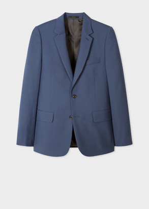 Paul Smith Men's Tailored-Fit Slate Blue Wool 'A Suit To Travel In' Blazer