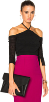 Roland Mouret Grace Circular Ripped Knit Top