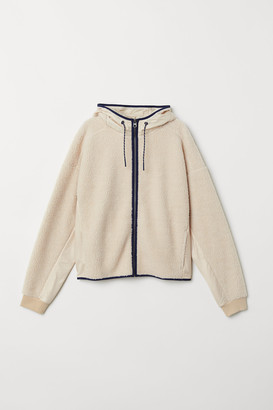H&M Faux Shearling Hooded Jacket