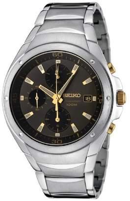 Seiko Men's SND783P Chronograph Black Dial Stainless Steel Watch