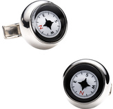 Ravi Ratan Men's Sterling Silver Compass Cufflinks