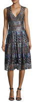 BCBGMAXAZRIA Jovita Printed A Line Dress