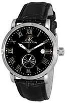 "Adee Kaye AdeeKaye AK9060 Men's ""Vintage"" Automatic-Mechanical Watch-Silver tone/ dial"