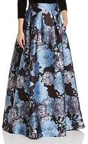 Eliza J Pleated Floral-Print Ball Skirt