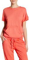 Josie Short Sleeve Rib Trim Sweatshirt