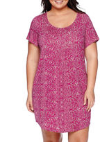JCPenney Ambrielle Cap-Sleeve Nightshirt - Plus