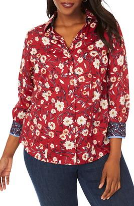 Foxcroft Lauren Floral Print Non-Iron Shirt