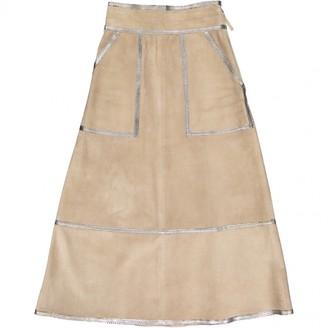 Louis Vuitton Beige Suede Skirts