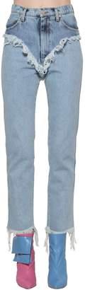 Natasha Zinko Doubled Cotton Denim Jeans