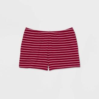 Stars Above Women's Striped Knit Pajama Shorts - Stars AboveTM