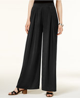 Bar III Pleated Wide-Leg Soft Pants, Only at Macy's