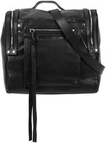 McQ by Alexander McQueen Loveless Black Leather Shoulder Bag