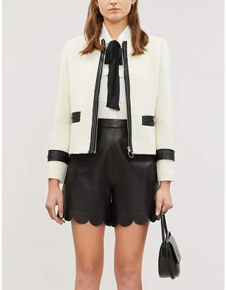Maje Vemma zipped wool-blend jacket
